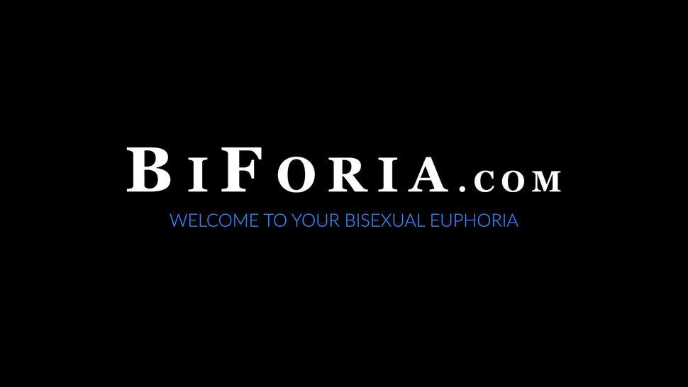 BIFORIA - Bisexual hairy Mason Lear sucking dick while wife watches