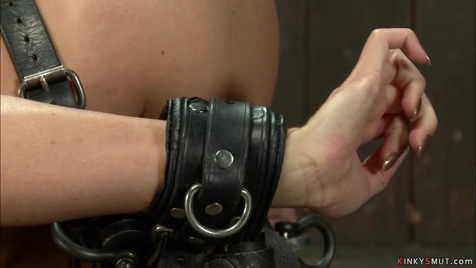Lesbian bound gymnast anal plugged