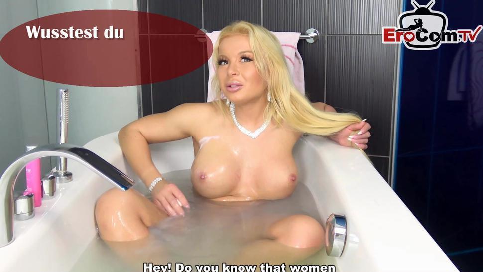 EROCOM.TV - big tall german fitness blonde with big tits