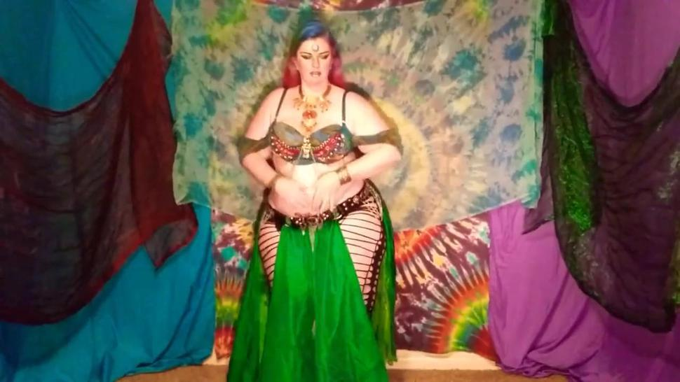 Gorgeous Thick PAWG Belly-Dancing and teasing