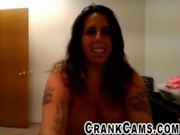 Tattooed Biker Chick Shows Off Tan  crankcamscom