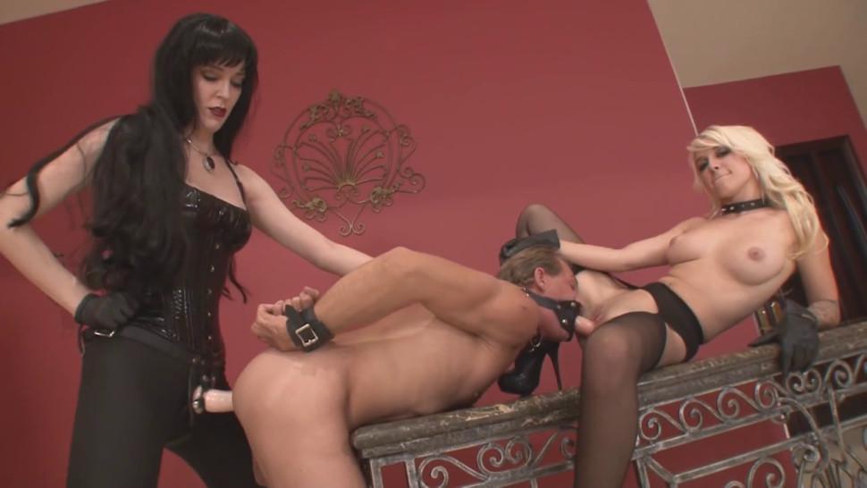 Double Stuffed Bitch - Mistress Victoria And Mistress Stevie - video 1