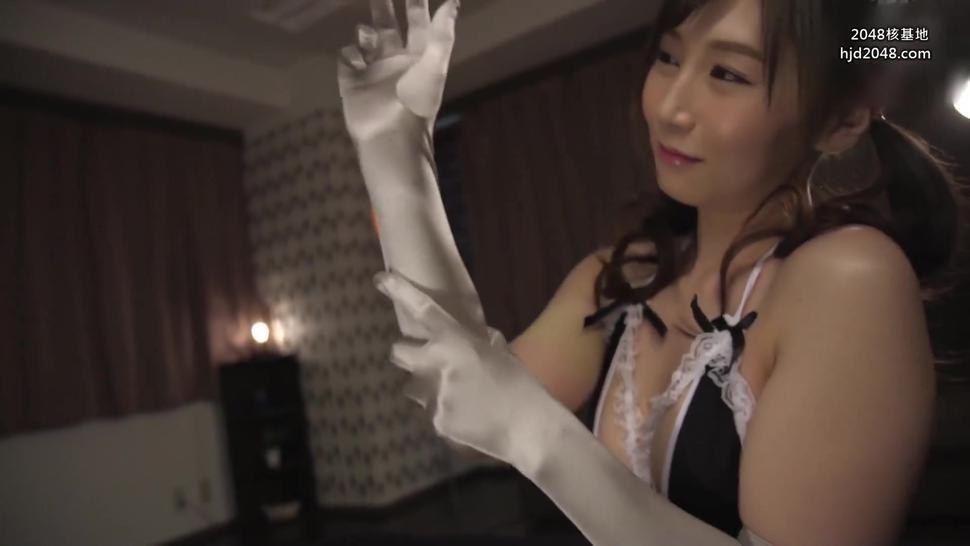 Cute Japanese Girl Glovejob Service With Long Satin Gloves