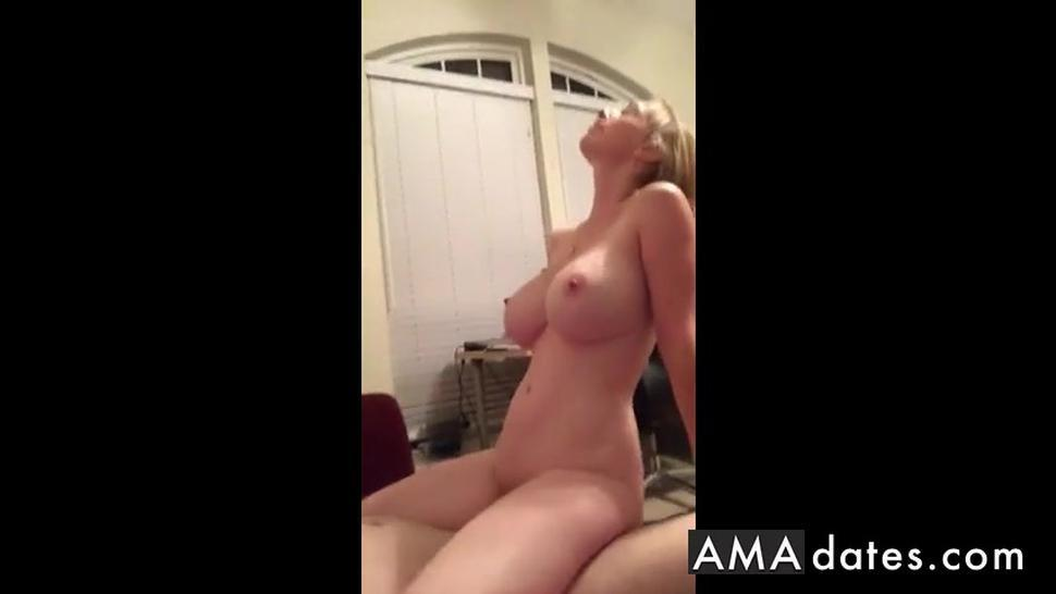 big boobed blond milf enjoying her husbands cock