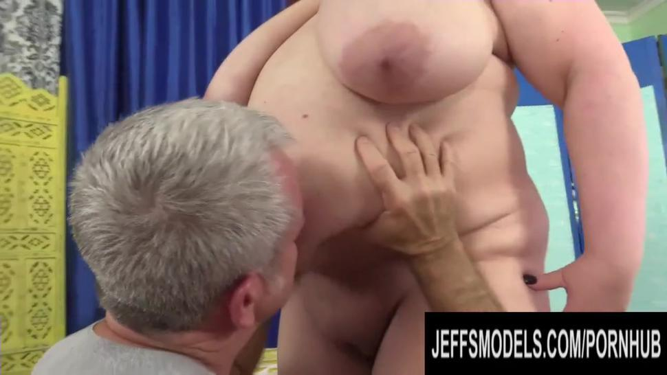 Well Endowed Fat Mommy Stazi Gets Oiled Up and Rubbed Down