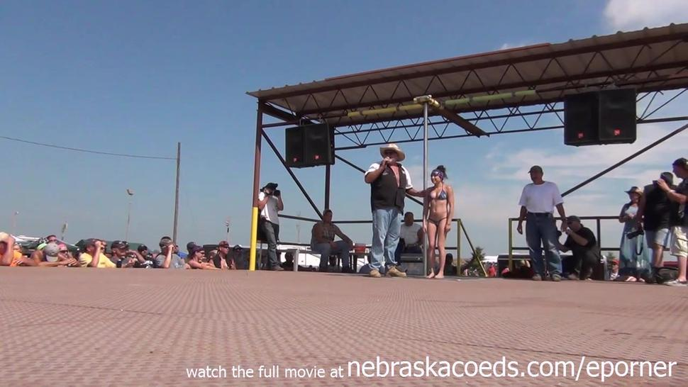 Naked Amateur Pole Dancing Finalists At Iowa Biker Rally