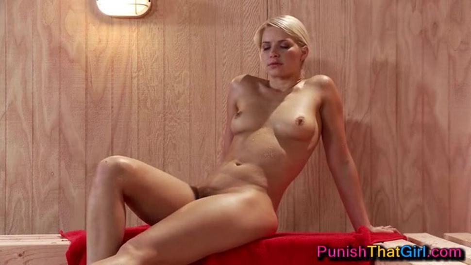 2 Horny Lezzies Seduce The Shy Girl In The Sauna
