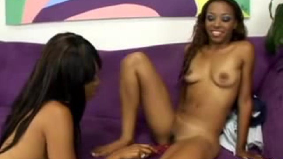 Lesbian Hotties Shoving Dildos In Their Moist Cunts