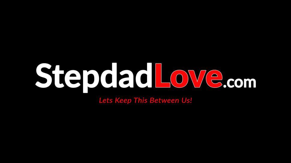 STEPDAD LOVE - Redhead hottie gets a mouthful of cum from stepdad
