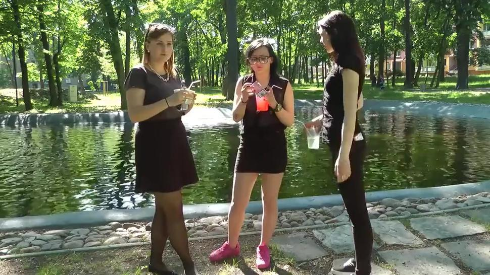 Three amazing young brunette babes smoking sexy