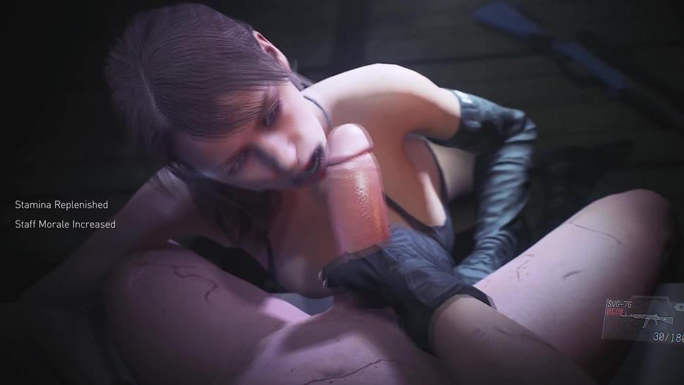 Metal Gear Quiet Blowjob (Animation W/Sound)