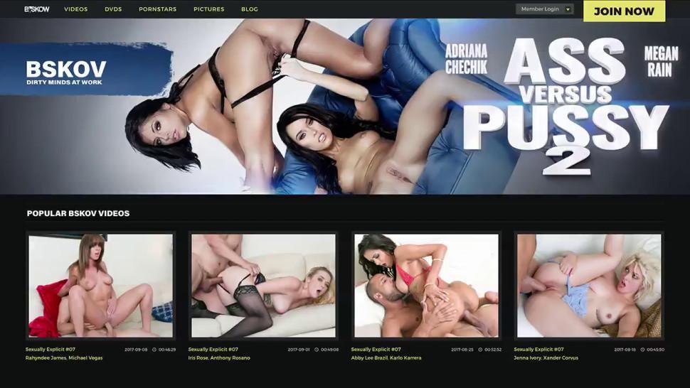Pornstar stroking her vag