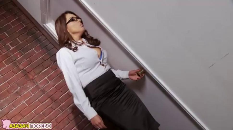 Strict teacher disciplines naughty student