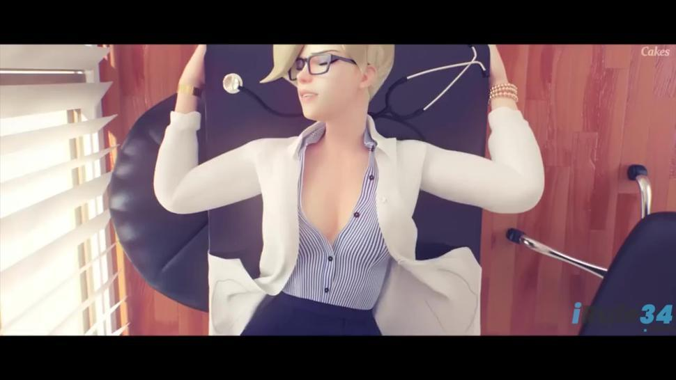 Doctor MERCY Fucked in the office with sound