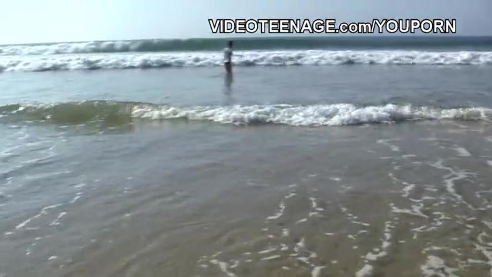 nude teen at beach