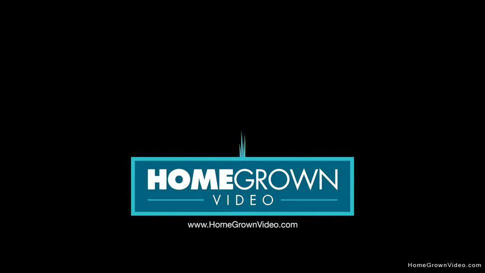 HOMEGROWNVIDEO - Cute brunette with pigtails gets pounded from behind