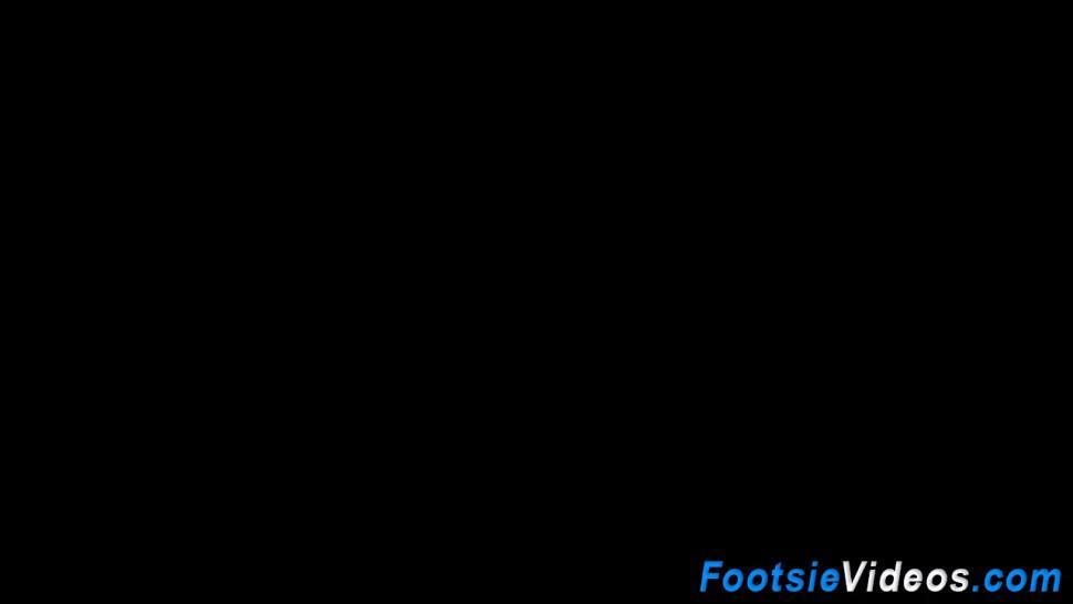 Stockinged hos feet spunk