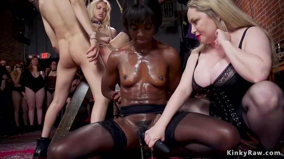 BDSM orgy fucking of hot slaves