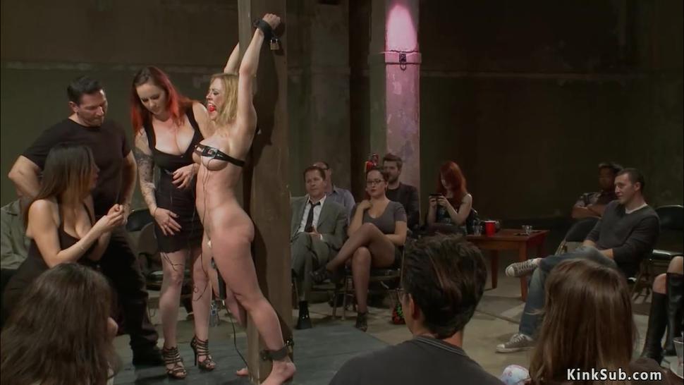 Big ass slave anal public banged