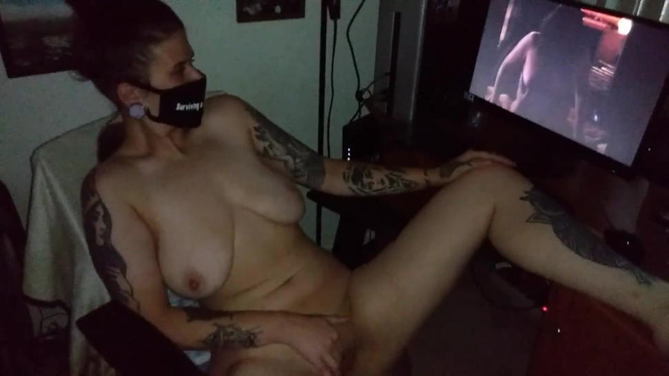 Wife films me with another woman then masturbates to it