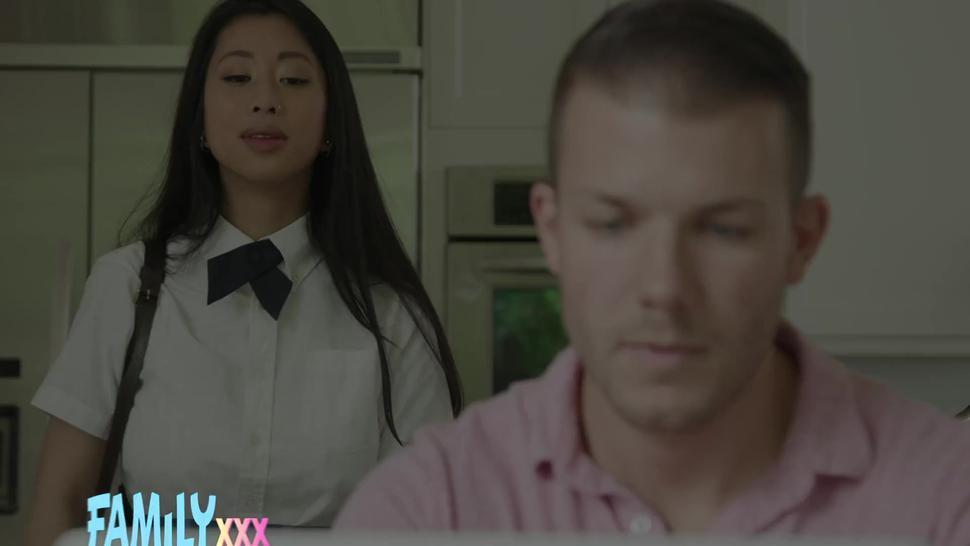 Familyxxx - Asian Big Tit Schoolgirl Step Sis Jade Kush Fucks Step Brother