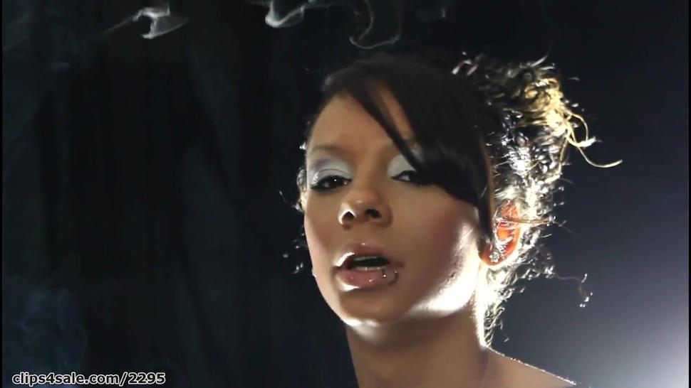 The amazing Latina beauty Mariah smoking sexy
