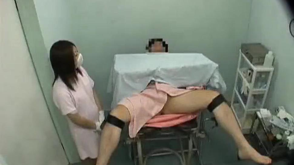 CFNM japanese nurse handjob blowjob foreskin