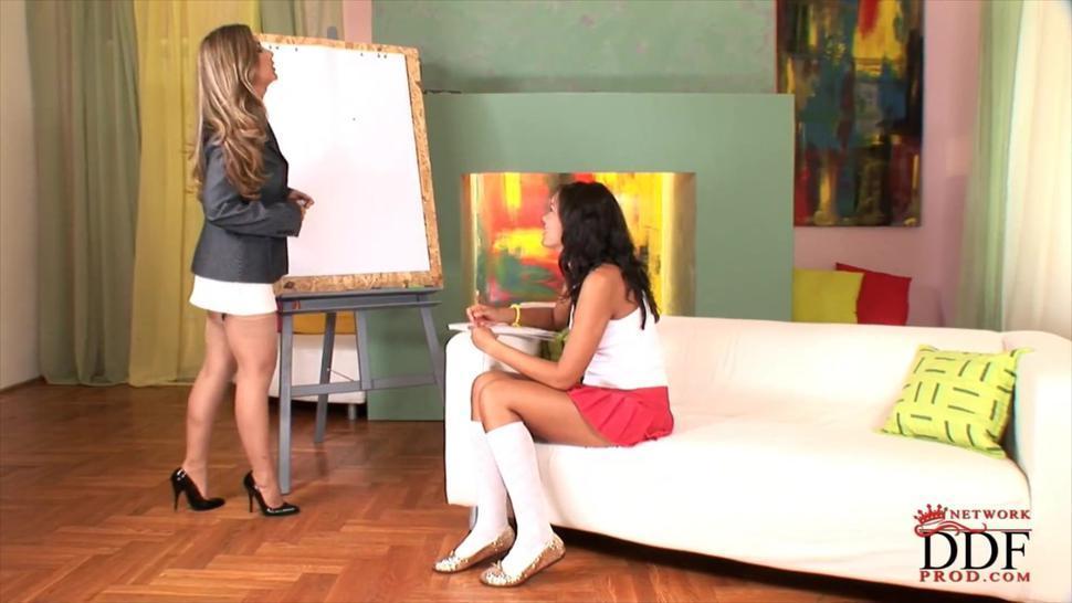 Lesbian Teacher Foot Worship