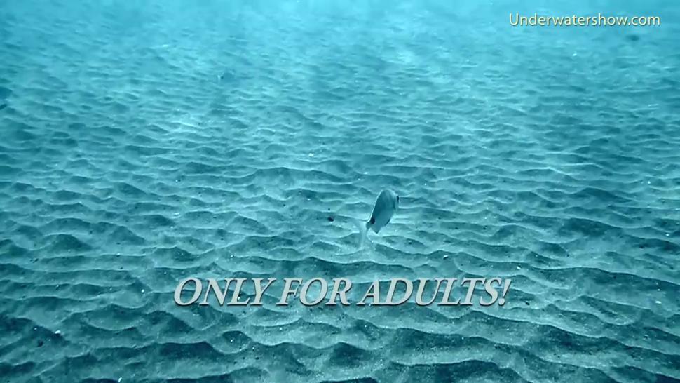 Tenerife girl swim naked underwater