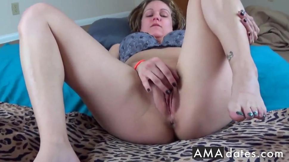 Masturbating  Sucking Huge Cock With Giant Natural Tits