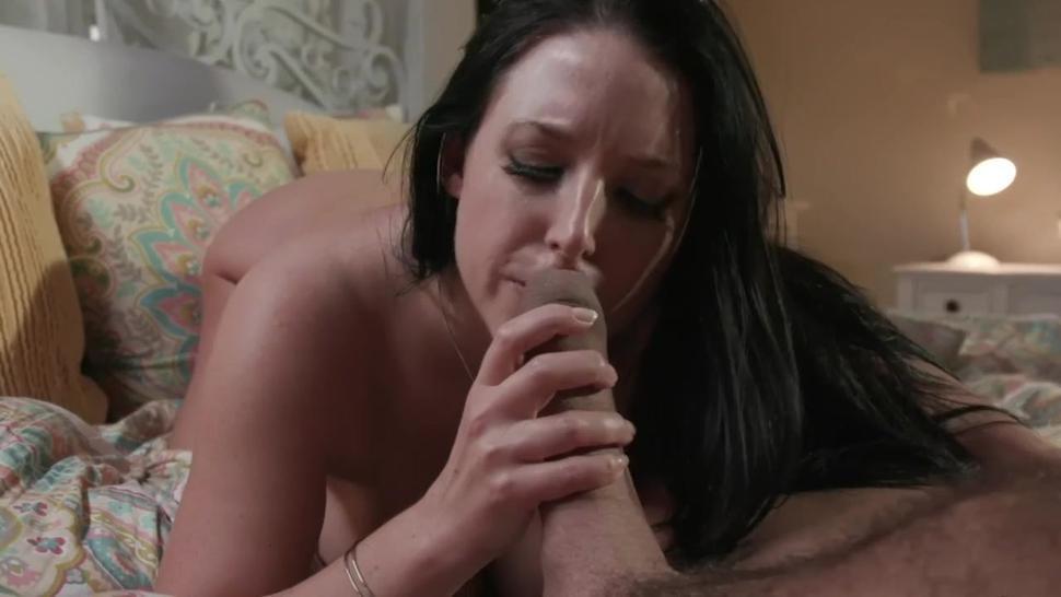 Angela White foreskin play