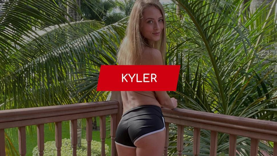 FIT18 - Kyler Quinn - 100lb Blonde Stunner Returns To Casting For Anal Creampie