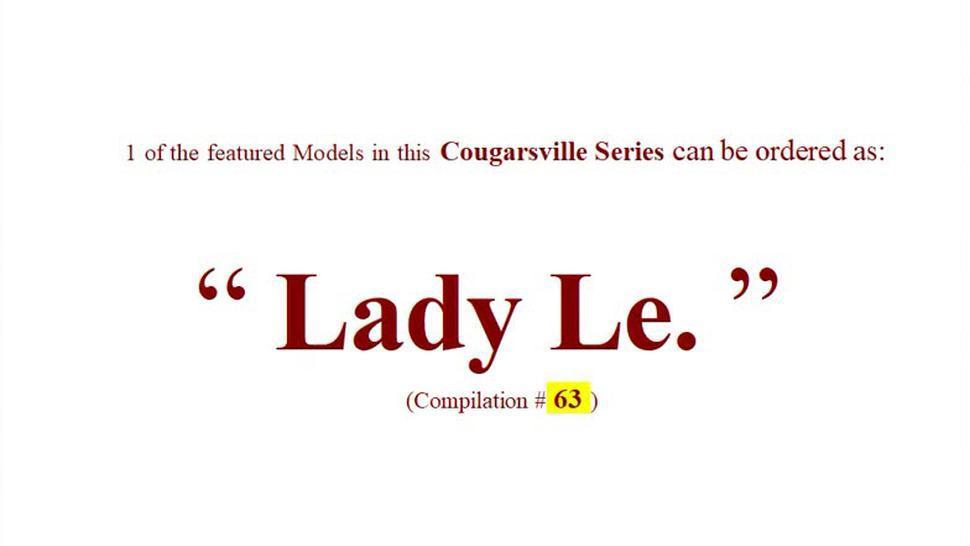 63rd  Web Models of Mature Cougarsville (Promo)