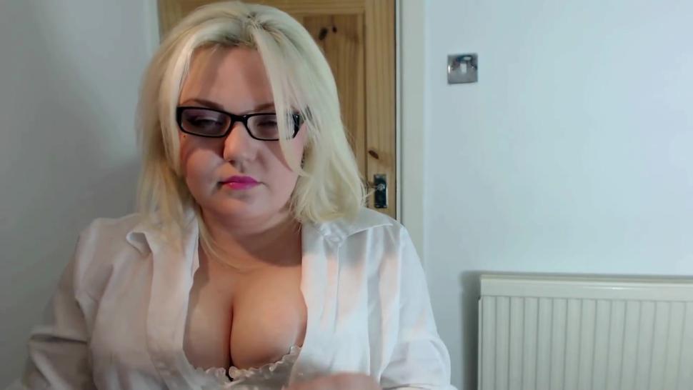Sexy Secretary Smokes