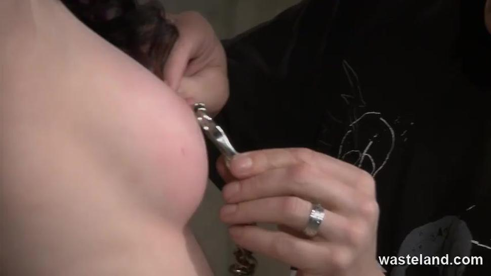 WASTELAND BDSM - Nipple Clamps And Whips With A Touch Of Candle Wax