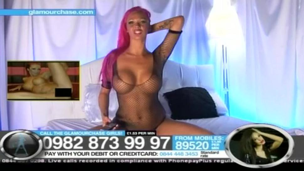 CJ Pink Hair Black Thong