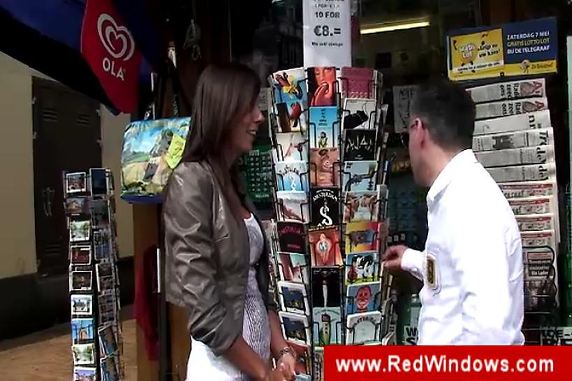 RED LIGHT SEX TRIPS - Guy visiting the red light district