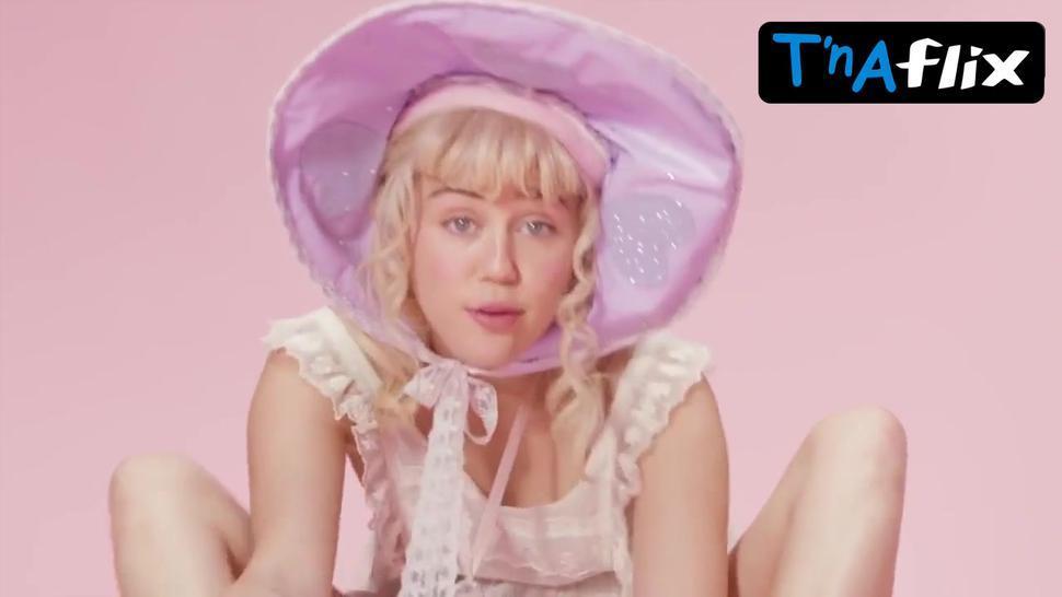 Miley Cyrus Underwear,  Breasts Scene  in Bb Talk