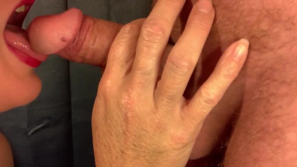 Neighbors Wife Wants to make me Cum! Slow Amateur Blowjob Cum in mouth