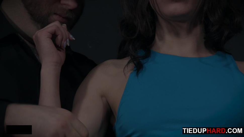 Loud bondage slave with juicy pussy fingered