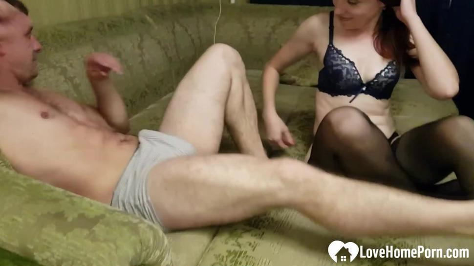 LOVEHOMEPORN - Couple records their fantastic blowjob session