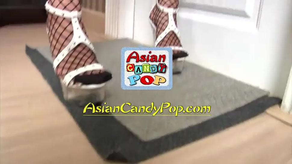 Asian Bitch With Stockings Fucks With Customer