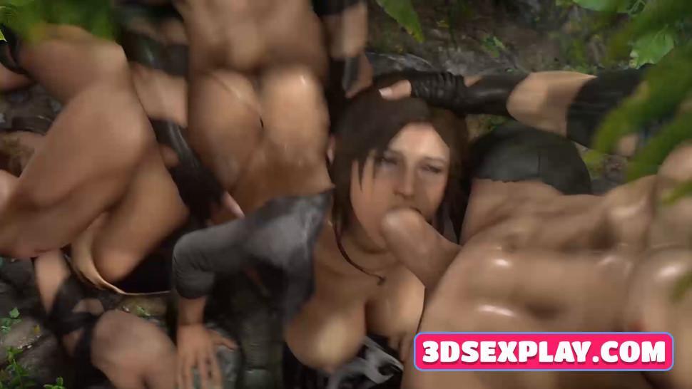 This Tomb Raider Lovely 3D Lara Croft Loves a Huge Massive Cock