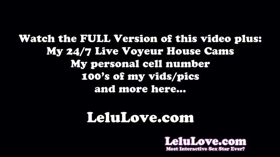 Glam model upskirt & edging masturbation on live cam show - Lelu Love