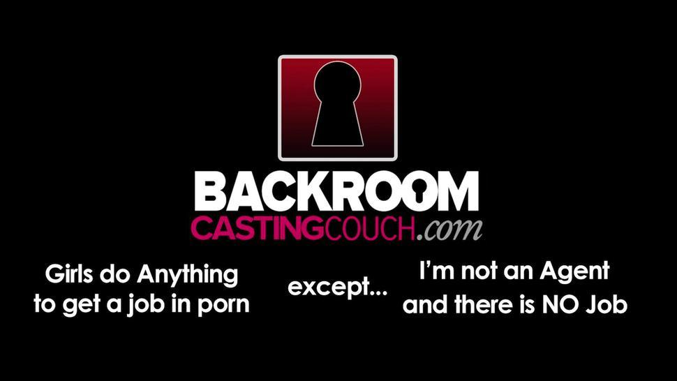 BACKROOM CASTING COUCH - Gullible Girl Stacy Dicked 2 Times But there is No Porn Job For Her