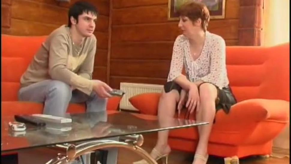 Russian Mature Porn Redhead Asks For Sex To Young Guy