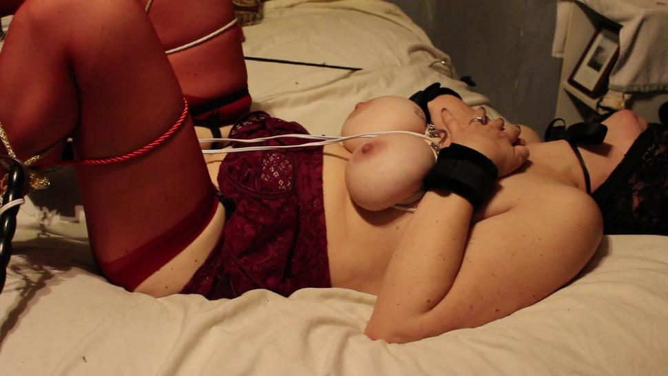 Slave wife tied, whipped, and toyed till she cums