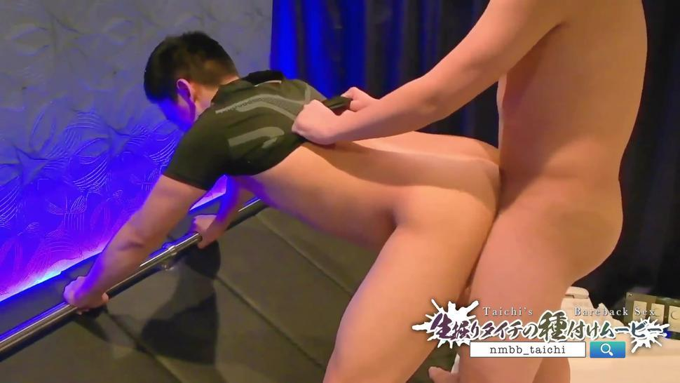 Japanese man squirting and bareback sex
