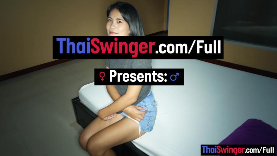 THAI SWINGER - Cute amateur Asian teen love you short time caught on camera