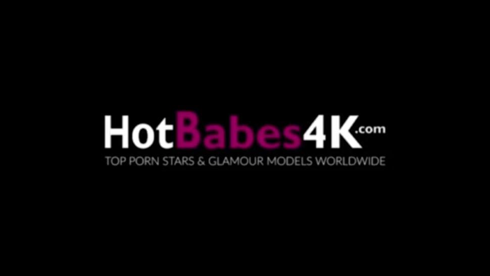 HOT BABES 4K - Brunette Cutie Taylor Sands Has Her Pussy Staffed In Doggy Style